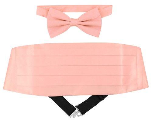 BOY/'S Dress Vest /& BOW TIE Solid CORAL PINK Color Bow Tie Set for Suit or Tuxedo
