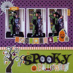 Halloween Scrapbook Page   12X12 Layout   Scrapbooking Ideas   Creative Scrapbooker Magazine #halloween #scrapbooking