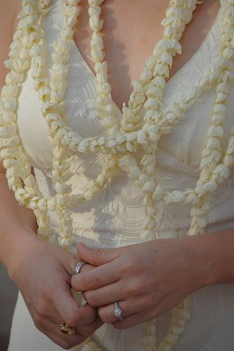 In my opinion Pikake Lei is the most beautiful lei for a wedding