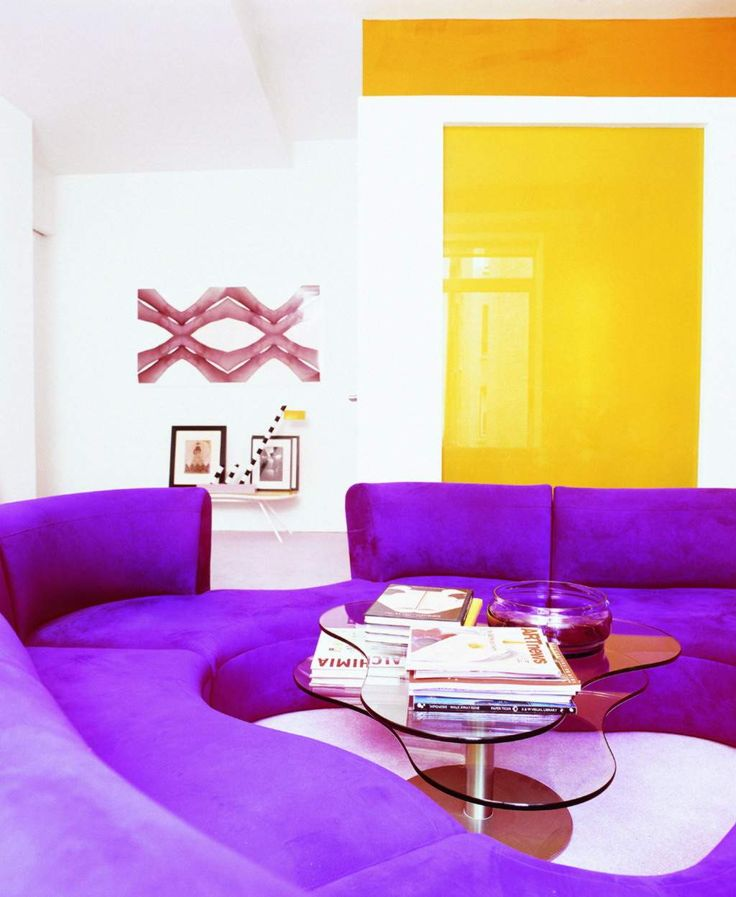 The Funky Room Has A Vibrant Color Scheme Which Includes The Complementary  Hues Of Yellow And Purple. The Rooms Draws Your Eyes In, This Room Is Very  Bright ... Part 67