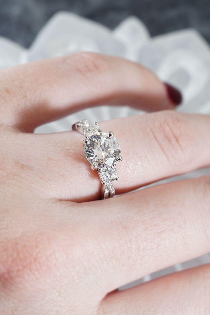 73 best Three Stone Engagement Rings images on Pinterest | Diamond ...