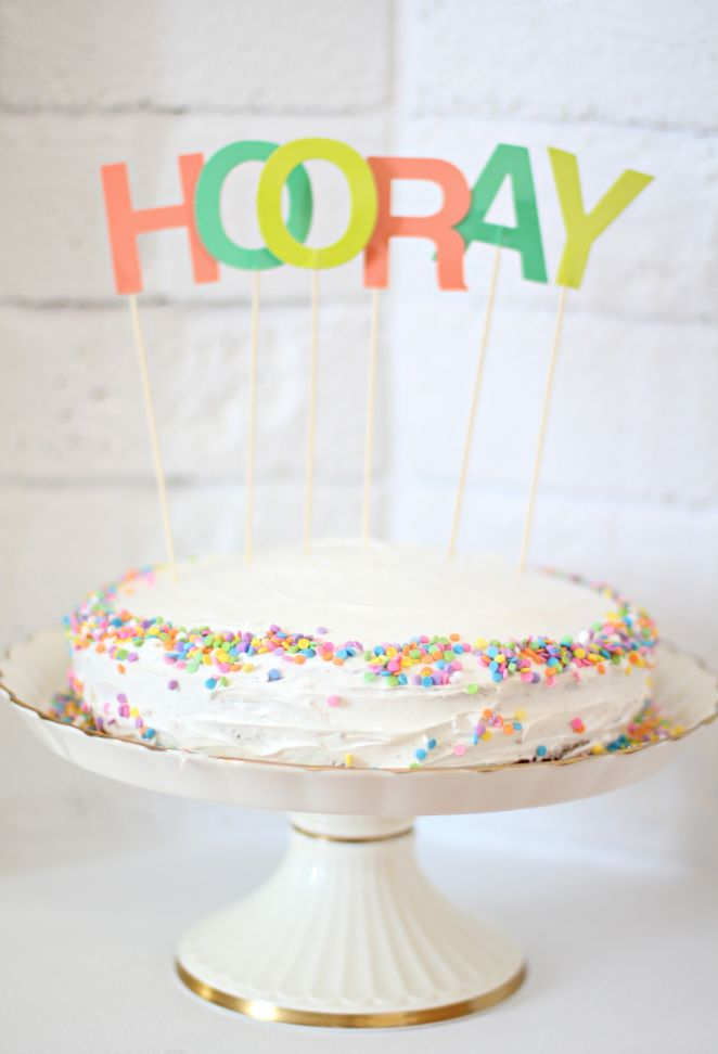 cake is always a good reason to say HOORAY!