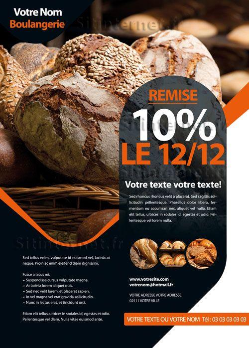 Création de Flyers Boulangerie http://www.sitinternet.fr/creation-de-flyers-design-boulangerie