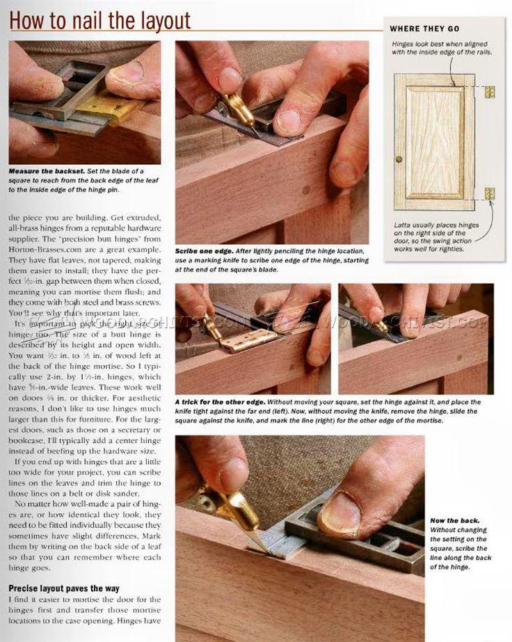 Installing Butt Hinges - Cabinet Door Construction
