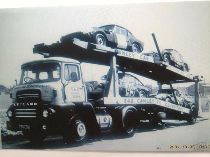 Leyland Transporter & Triumph Spitfire LeMans Cars
