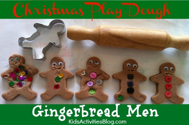 Christmas Preschool Craft with Play Dough Gingerbread Man