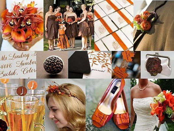 chocolate and beige wedding shoes | Fall Festival: Chocolate Brown & Burnt Orange « Weddingbee Gallery