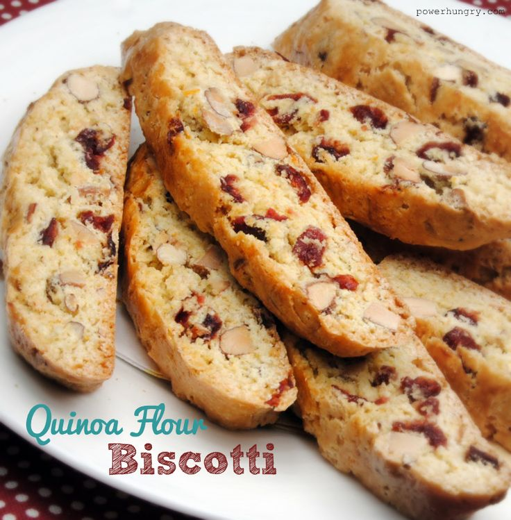 Cranberry & Almond Biscotti - with Quinoa Flour