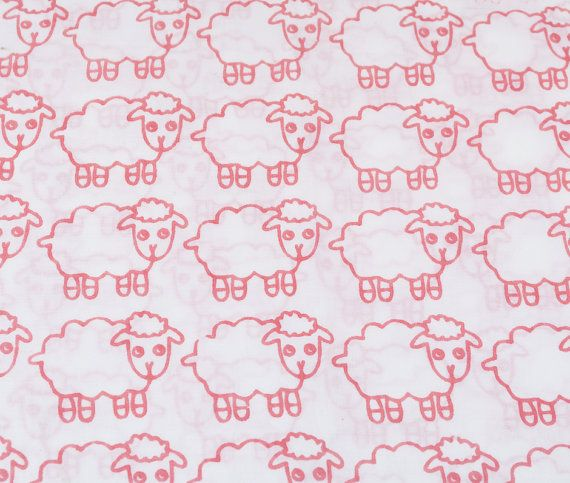 Pink Sheep Baby Quilt Baby Pillow Cot Bedding Set by MyKolachi