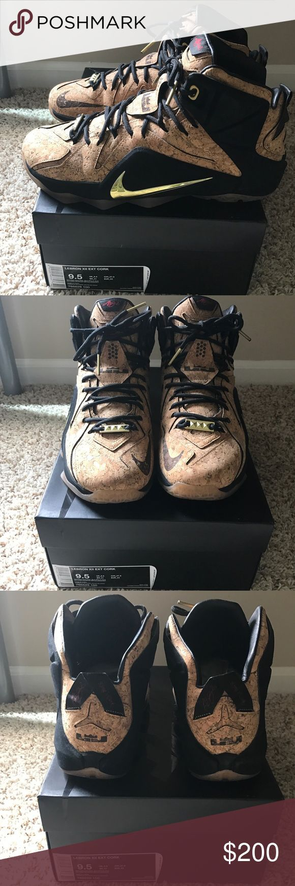 Nike LeBron 12 Cork Size 9.5 $200 Men's Worn once. These were my sons Nike Shoes Athletic Shoes
