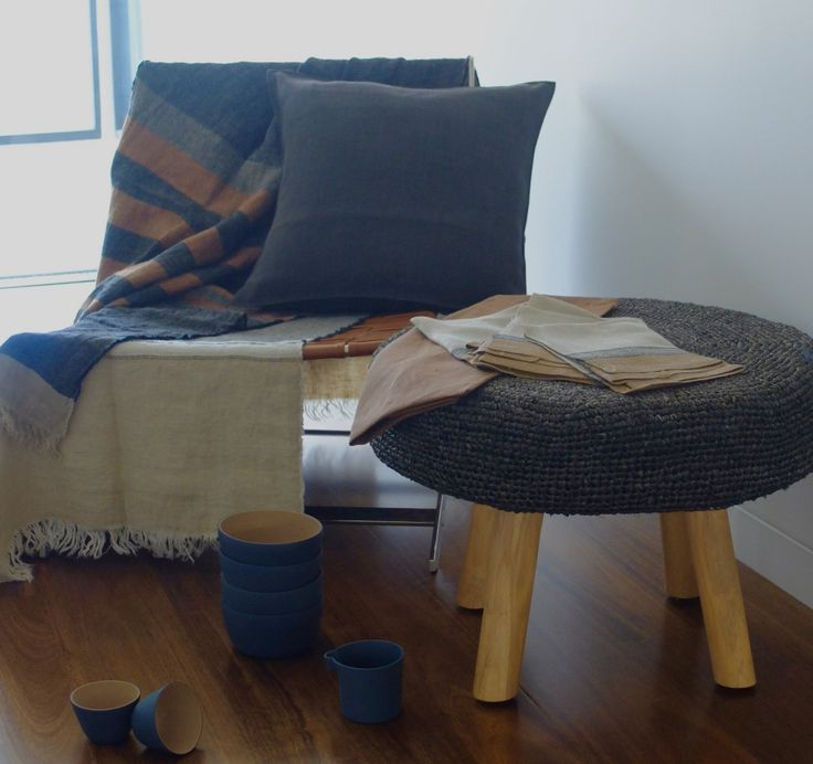 Canvas Cloth and Bowl - Libeco Linen and Cast Ceramics Home Collection
