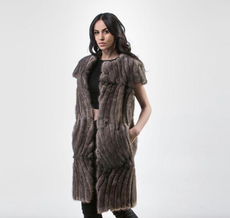 Dusty Mink Tails Fur Vest     #dusty #mink #fur #vest #real #style #realfur #elegant #haute #luxury #chic #outfit #women #classy #online #store mink,