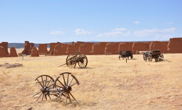 Visit Civil War history on the Old Santa Fe trail at Fort Union National Monument, only an hour and a half from Santa Fe, New Mexico.