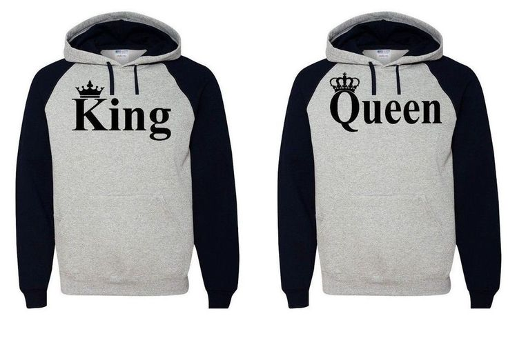 King Queen Hoodie Couple Hooded Sweatshirt Boyfriend,Girlfriend Hoodie in Clothing, Shoes & Accessories | eBay