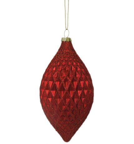 Orn-Glass Geometric Final Red | David Jones