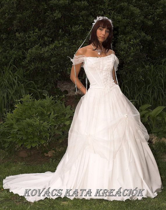 Renaissance inspired ethereal white fairy wedding gown for Fairytale inspired wedding dresses