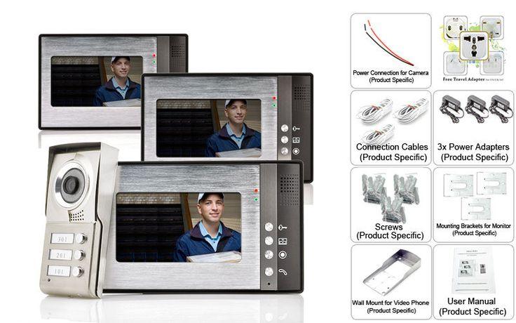 """Video citofono """"Triga"""" - 3 monitor per 3 famiglie separate, visione not"""