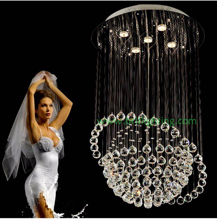 Сфера стиль хрустальная люстра столовая глобус люстры современные потолочные светильники хрустальная люстра отеля гостиная висит огни хрустальный шар люстры столовая хрустальная люстра круглый хрустальная люстра