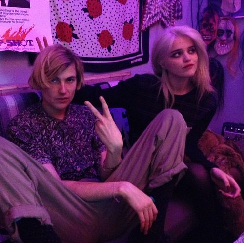 diiving:    Zachary Cole Smith and Sky Ferreira (photo by sandycandykim - instagram)    too much perfection here