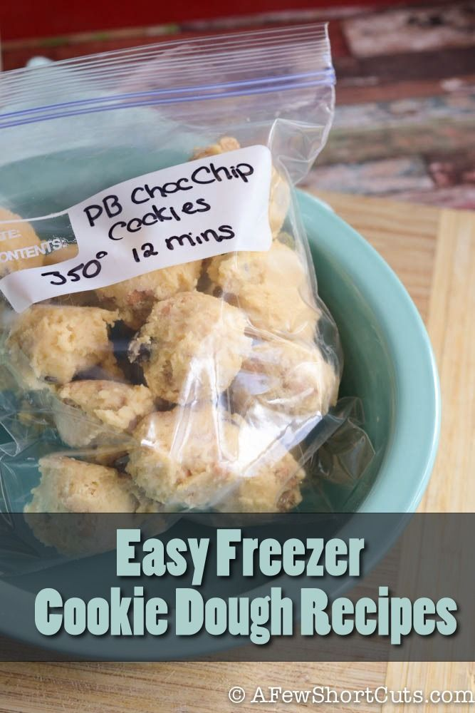 Check out these simple & Easy Freezer Cookie Dough Recipes