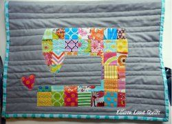Love to Sew Machine Cover. Use up those fabric scraps by making the Love to Sew Machine Cover. This fun project is bright, colorful and useful. Use this sewing machine cover tutorial to create a project you can keep yourself or give away as a gift! #sewing #quilt