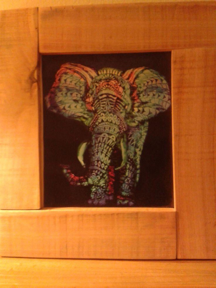 cuadro elefante #palet