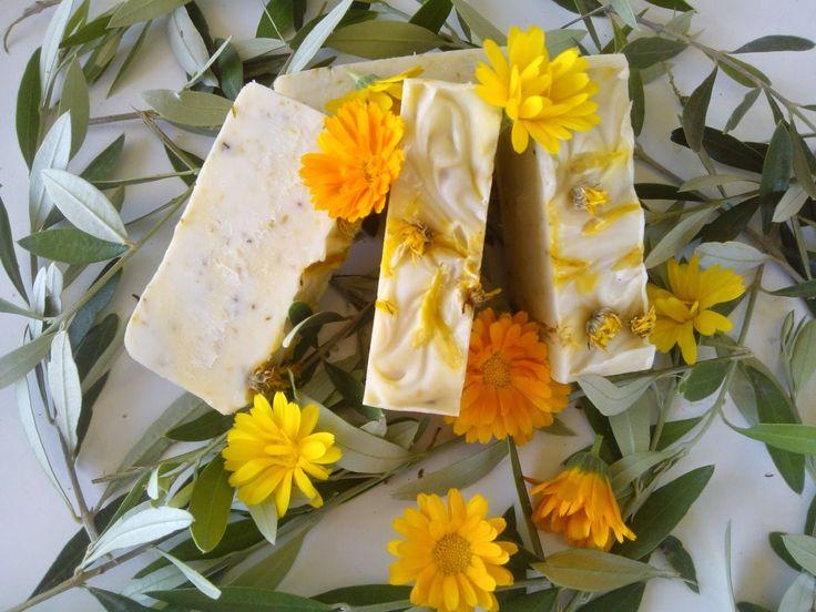 Χειροποίητα σαπούνια-Κεραλοιφές                                            Λαοδάμεια: σαπούνι καλέντουλα