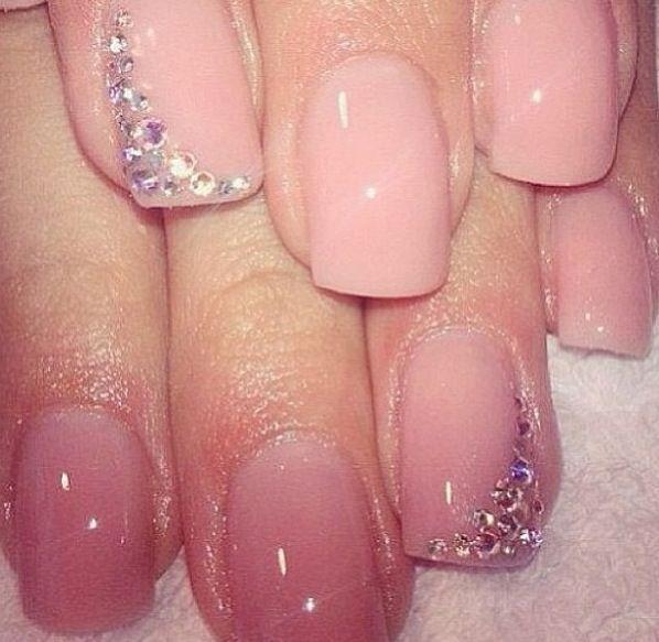 Beautiful Wedding Manicure Idea