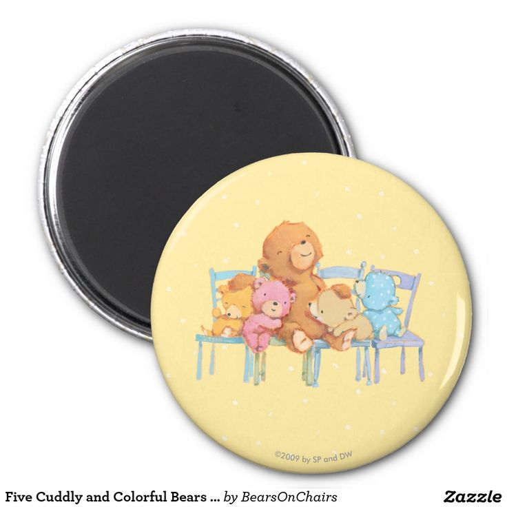 Bears On Chairs. Baby, bebé. Regalos, Gifts. #imanes #magnets