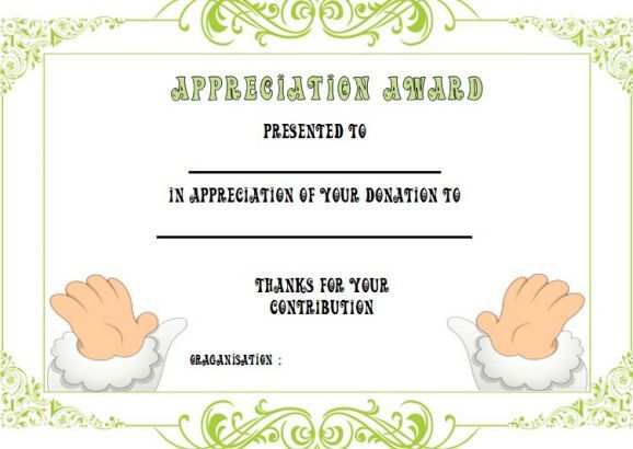 Gift Certificate Template For Donation Donation Certificate