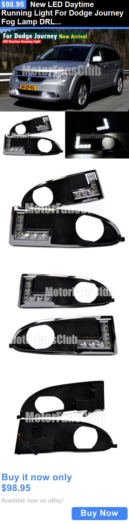 Motors parts and accessories new led daytime running light for dodge journey fog lamp drl