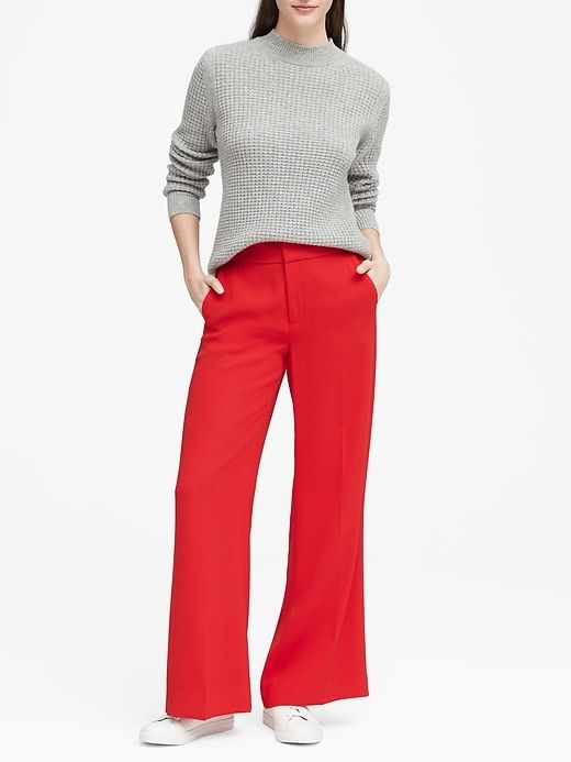 0ada9025235bc6 Banana Republic Womens Wide-Leg Pant Ultra Red in 2019 | Products ...
