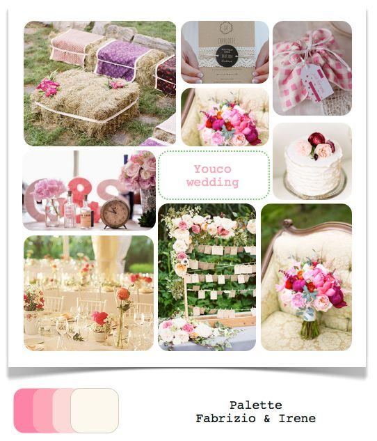 Accenni di rosa, paglia e dettagli dal sapore rustico per un matrimonio romantico e un pizzico retrò
