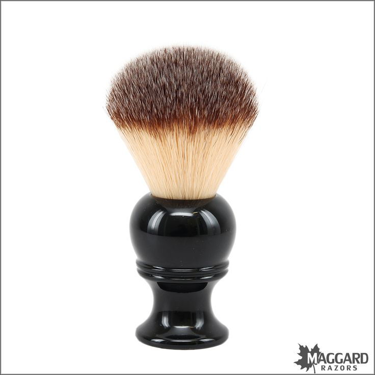 Maggard Razors 22mm Synthetic Shaving Brush, Black Handle | Maggard Razors - Straight Razor Restoration, Custom Scales and Wet Shaving Products