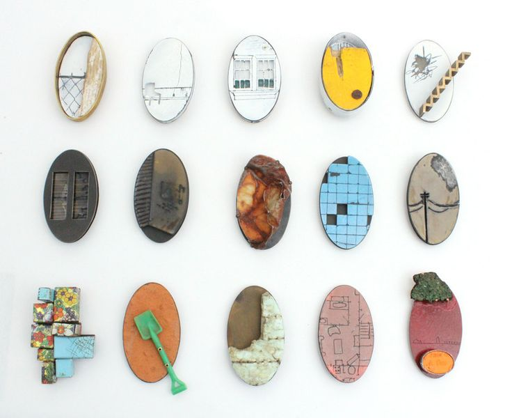Portrait Brooches by Kat Cole