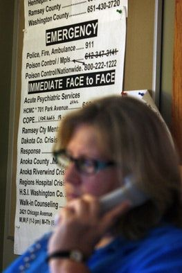 Crisis line could get cut without state funding #on #line #class http://swaziland.remmont.com/crisis-line-could-get-cut-without-state-funding-on-line-class/  # Crisis line could get cut without state funding Thousands of Minnesotans who are suicidal, or in need of mental health help, dial one phone number to talk to counselors for free. But now the local program that operates a statewide mental health phone service is preparing to cut back its services or shut down entirely unless the…