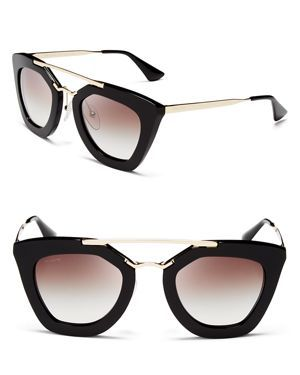 Prada Cat Eye Sunglasses #prada #sunnies