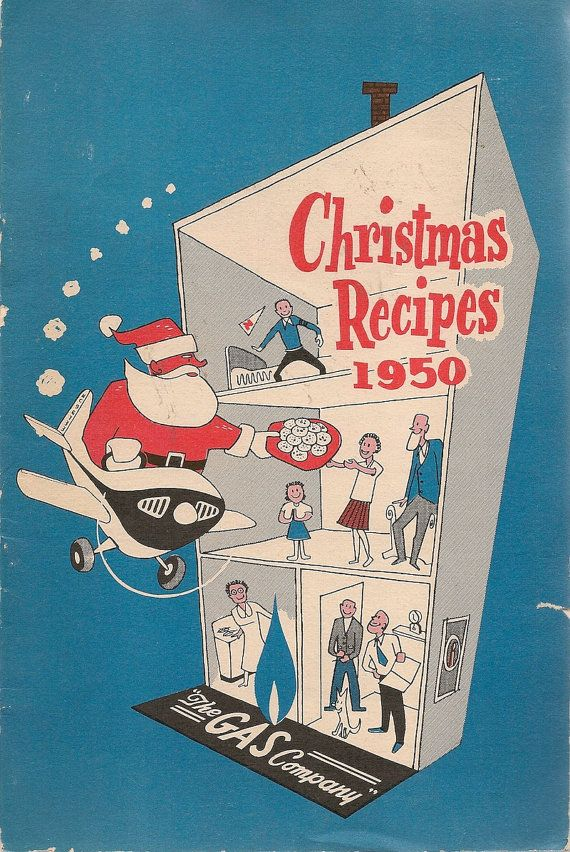 VINTAGE COOK BOOK Christmas Recipes 1950 The Gas by HazelCatkins
