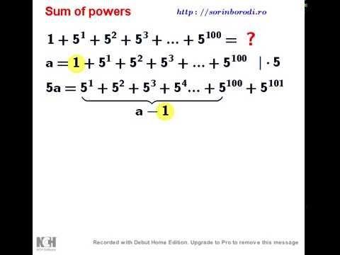 Sum of powers (2) - YouTube