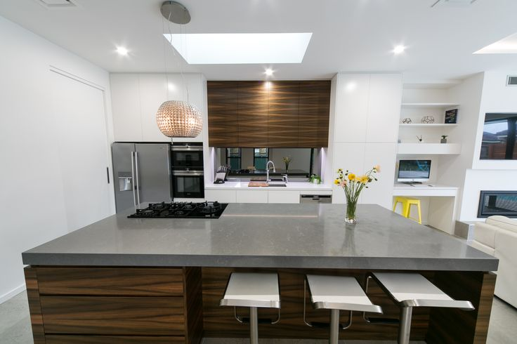 Reflection's Grey Mirrored Splashback - Joinery by Active Kitchens & Joinery