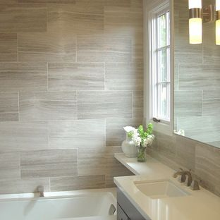 Emperador Dark Marble Tile Design Ideas, Pictures, Remodel, and Decor - page 5
