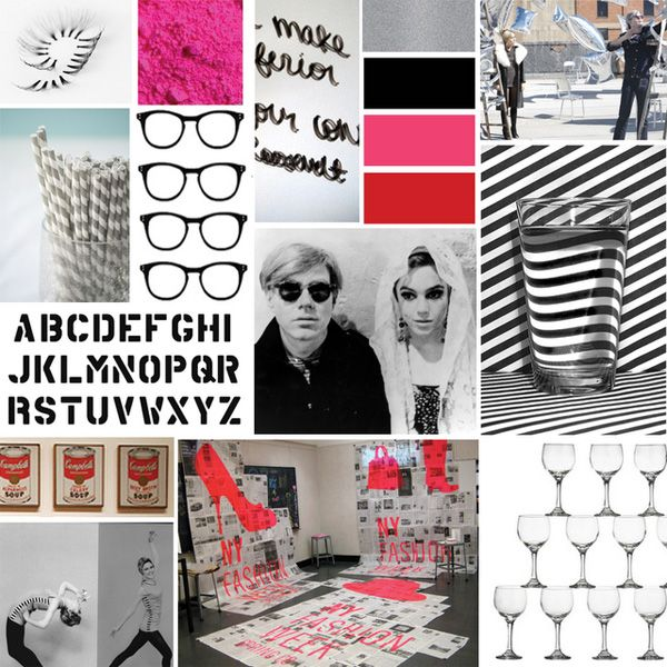 modern wedding inspiration. pink, black, gray, and graphic. though i probably wouldn't go as punk.