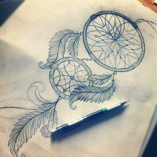 dibujos atrapasueños a lapiz - Buscar con Google