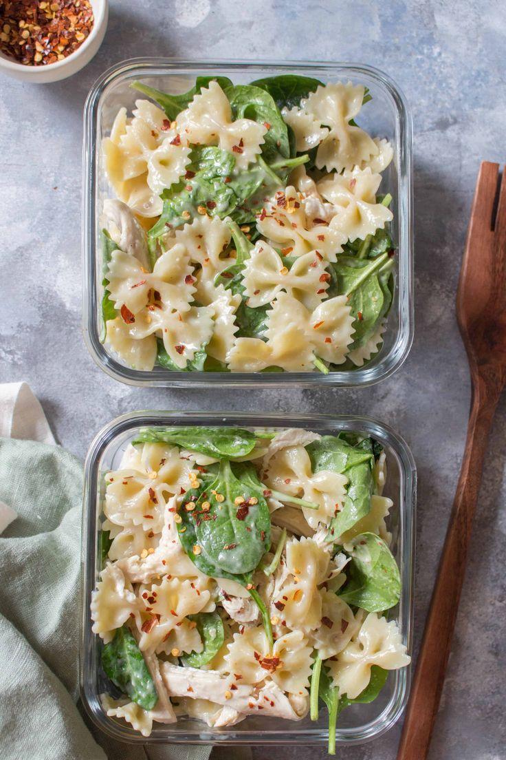 Cold Chicken Spinach Pasta Salad