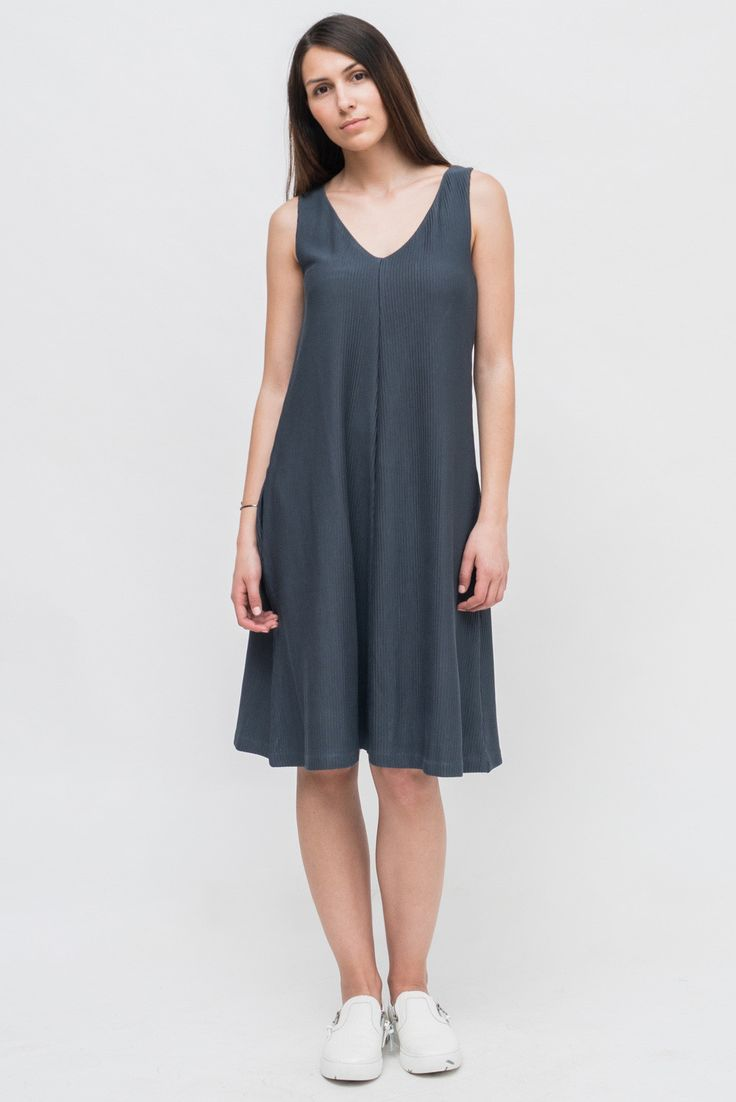 SOFT BLUE SLEEVELESS DRESS from Ozon Boutique