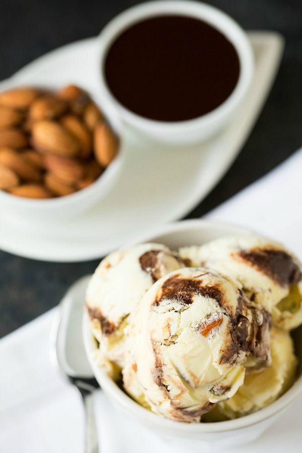 Toasted Almond Fudge Ripple Ice Cream