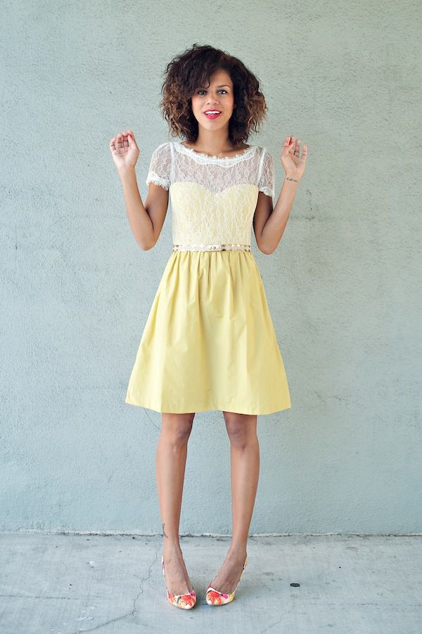 Style Me Grasie looks fabulous in the yellow Sorbetto Dress from BHLDN. From…