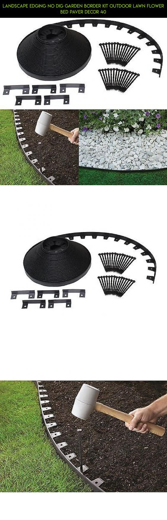 Landscape Edging No Dig Garden Border Kit Outdoor Lawn Flower Bed Paver Decor 40 #tech #plans #gardening #parts #fpv #drone #kit #technology #shopping #gadgets #camera #edging #racing #products