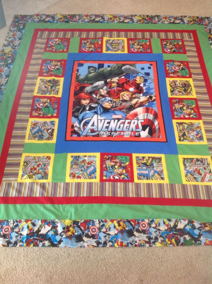 Avengers Quilt My Quilts Pinterest