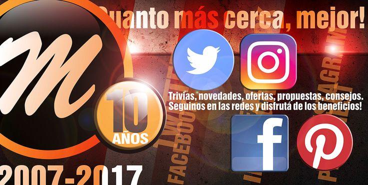 FESTEJANDO NUESTROS 10 AÑOS CON VOS www.metalnorsrl.com www.metalnoriluminacion.com.ar En nuestro cumpleaños, las sorpresas serán las protagonistas! Por esto, seguinos desde tus redes sociales y disfrutá de todos los beneficios! En Pinterest: https://ar.pinterest.com/metalnorelectricidad En Twitter: https://twitter.com/MetalnorElec En Instagram: https://www.instagram.com/metalnorelectricidad/